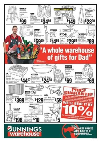 Bunnings Catalogue Power Tools Father's Day Gifts 2017