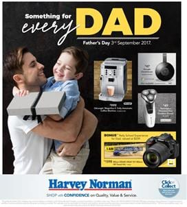 Harvey Norman Catalogue Fathers Day Deals August 2017