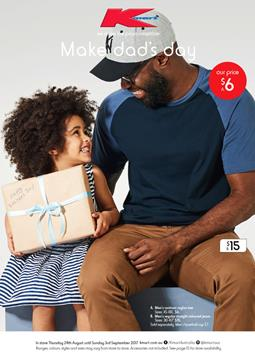Kmart Catalogue Father's Day Gifts 24 Aug - 3 Sep 2017