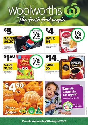 Woolworths Catalogue Grocery 9 - 15 August 2017