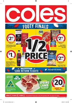 Coles Catalogue Deals 13 - 19 September 2017
