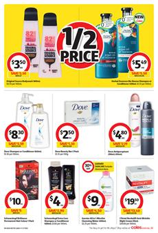 Coles Catalogue Household Products 6 - 12 September 2017