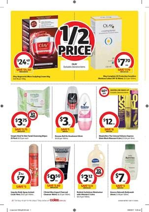Coles Catalogue Personal Care 13 - 19 September 2017