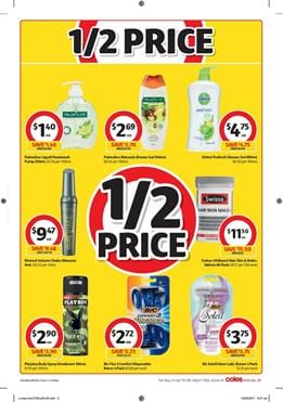 Coles Catalogue Personal Care Deals 27 Sep - 3 Oct 2017
