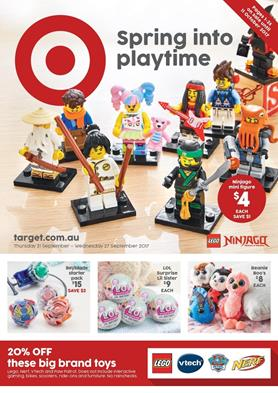 Target Catalogue Spring Toy Sale 20 - 27 September 2017