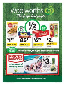 Woolworths Catalogue Deals 13 - 19 September 2017
