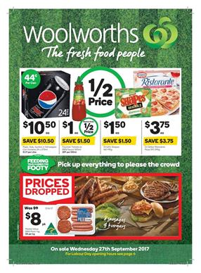 Woolworths Catalogue Grocery 27 Sep - 3 Oct 2017