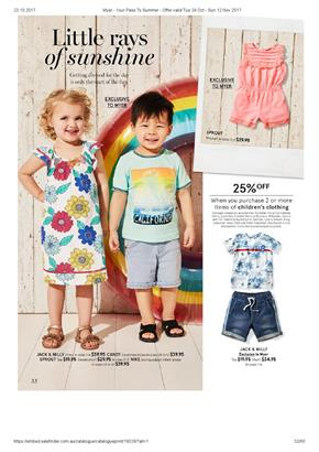 Myer Catalogue Kids Clothing 24 Oct - 12 Nov 2017