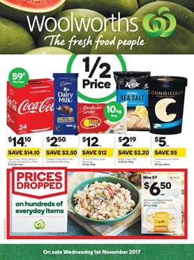 Woolworths Catalogue Deals 1 - 7 November 2017