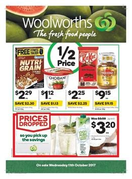 Woolworths Catalogue Deals 11 - 17 October 2017