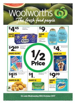 Woolworths Catalogue Deals 18 - 24 October 2017