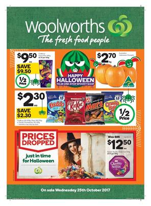 Woolworths Catalogue Halloween 25 - 31 October, 2017