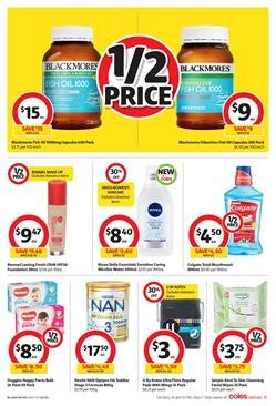 Coles Catalogue Personal Care 22 - 28 Nov 2017