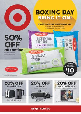 Target Catalogue Boxing Day 26 Dec - 3 Jan 2018