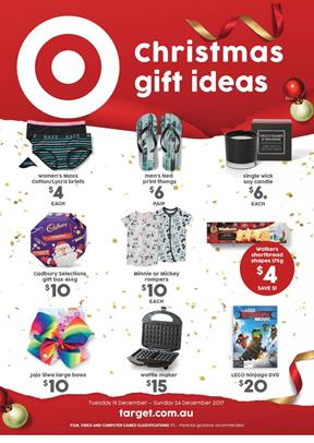 Target Catalogue Christmas Gifts 19 - 24 December 2017