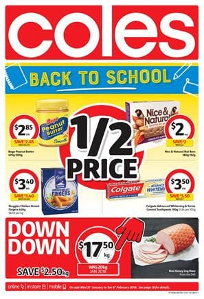 Coles Catalogue Deals 31 Jan - 6 Feb 2018