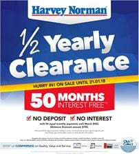 Harvey Norman Catalogue Clearance Living Room January 2018