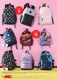 Kmart Catalogue Backpacks 18 - 31 January 2018