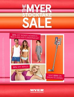Myer Catalogue Stocktake Deals January 2018