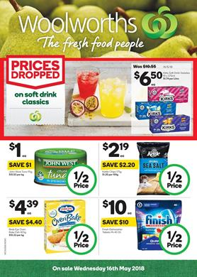 Woolworths Catalogue Half Price 16 22 May 2018