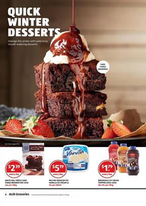 Aldi Catalogue Winter Desserts Every Day Sale