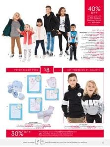 507cbb4f0f6 Myer Catalogue shows a 40% off kids clothing sale. Sweat tops, pyjamas,  trackpants for kids are cool and comfortable products.