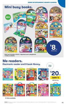 e8e0443d1c1 Reader kids will love this part of toy sale catalogues. Big W has many busy  books like slow sleepy sloths, polar adventures, adorable pups, and new  books on ...