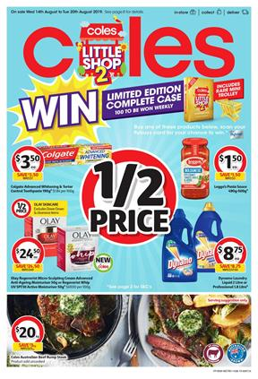 Coles Catalogue 14 - 20 Aug 2019 | Deals, Half Prices