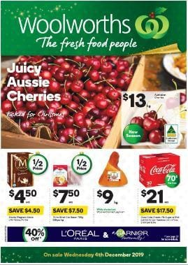Woolworths Christmas Food Sale Dec 4 - 10, 2019 | Catalogue Deals