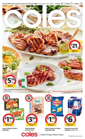 Coles Catalogue Fresh Deals 15 - 21 Jan 2020
