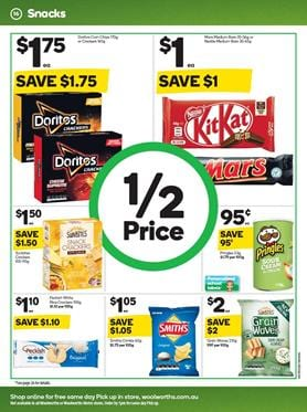Woolworths Catalogue Snacks 15 Jan 2020
