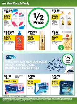 Woolworths Libra Products 15 - 21 Jan 2020