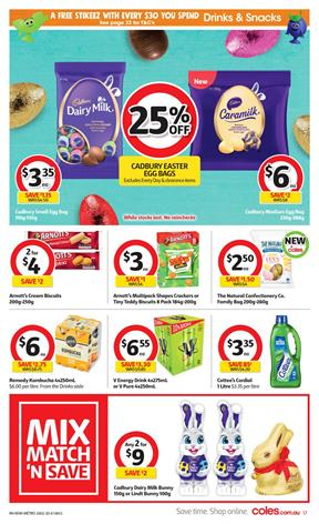 Coles Easter Cadbury Deal 26 Feb - 3 Mar 2020