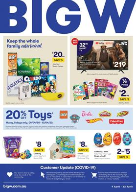 Big W Easter Confectionery Sale 9 - 22 Apr 2020