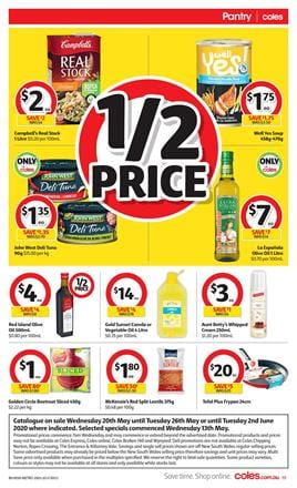 Coles Catalogue Sale 20 - 26 May 2020