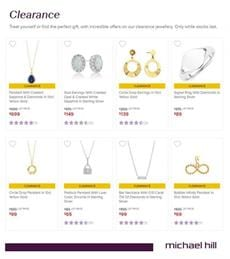 Michael Hill Clearance Sale May 2020