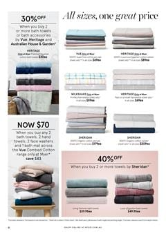 Myer Bath Towel Deals Until 10th of May