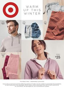 Target Catalogue Winter Clothing Sale and Home Products May 2020