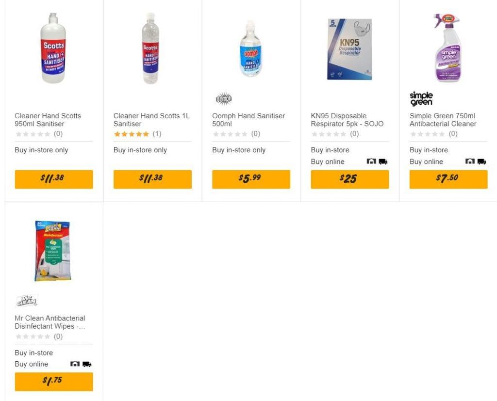 Bunnings hand sanitiser, mask and more deals Jul 2020