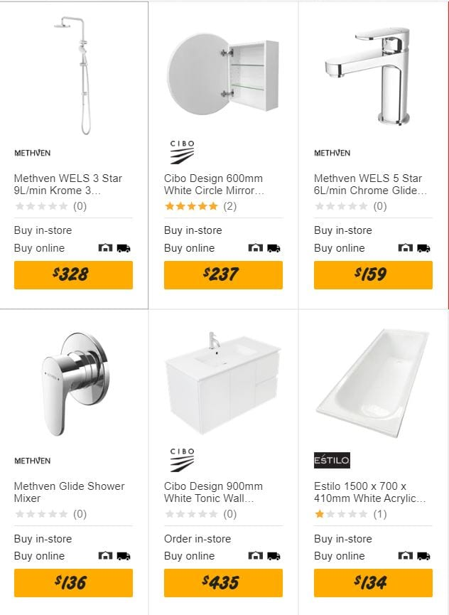 Bunnings Specials Bathroom Products Jul 2020