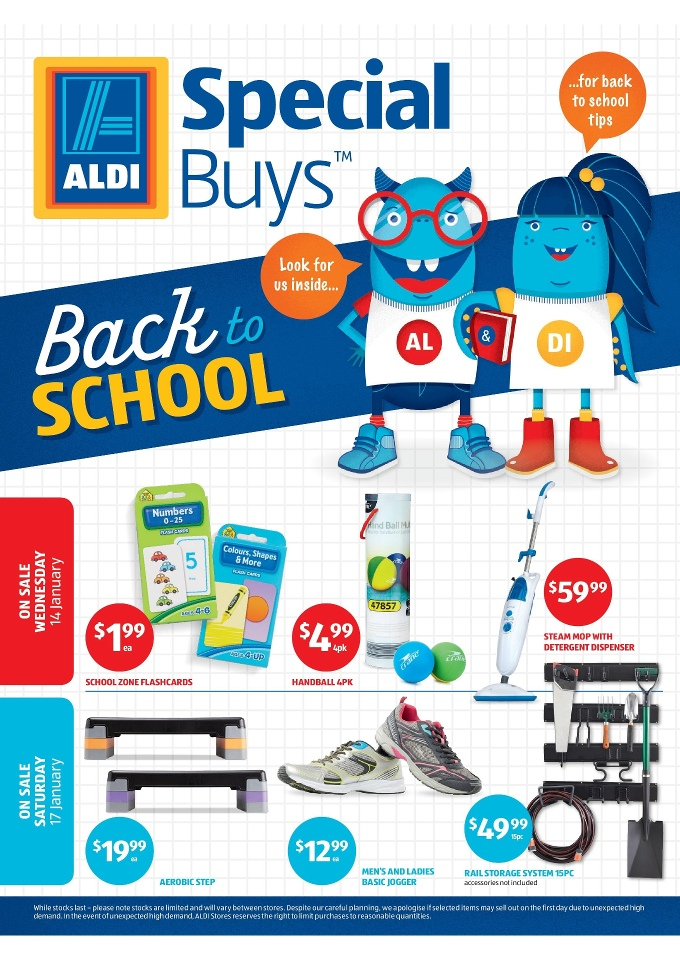 Aldi catalogue back to school january 2015 for Aldi gardening tools 2016
