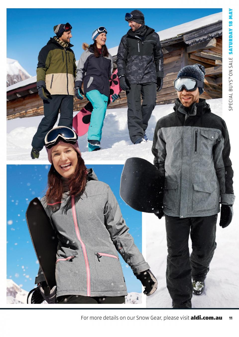 aldi catalogue snow gear 2019