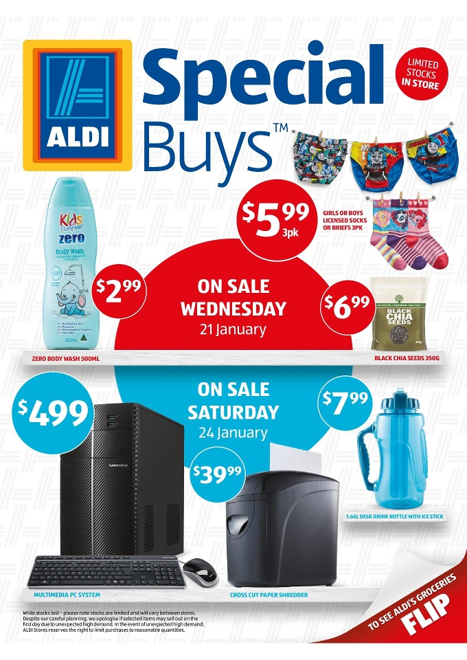 Aldi Catalogue Special Buys January 2015 New Products
