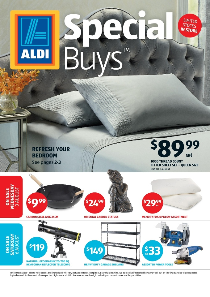 aldi catalogue special buys week 31 2016. Black Bedroom Furniture Sets. Home Design Ideas