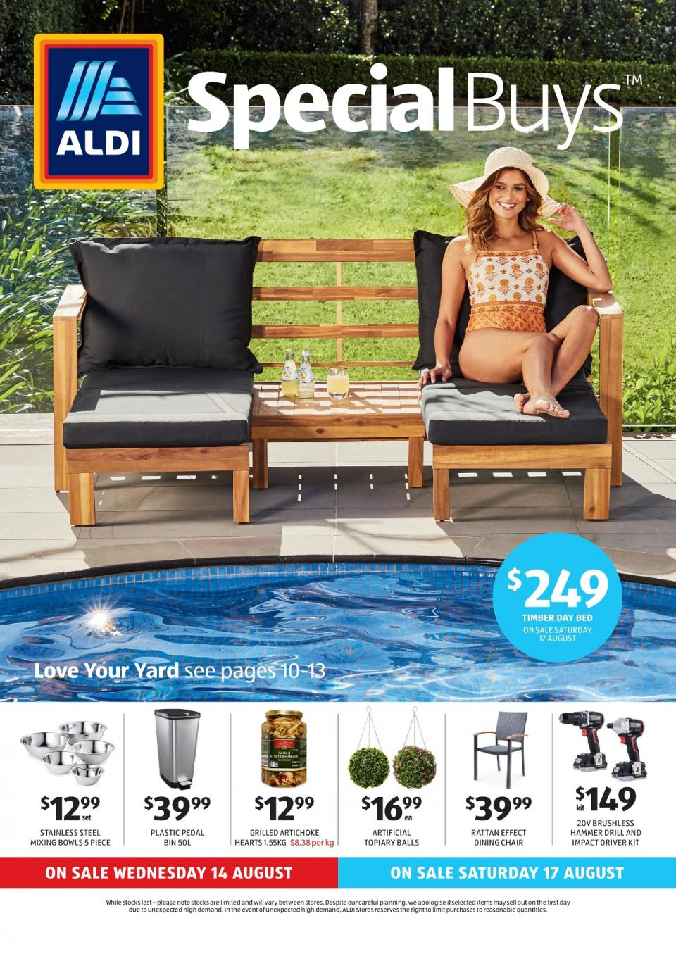 aldi catalogue special buys week 33 2019. Black Bedroom Furniture Sets. Home Design Ideas