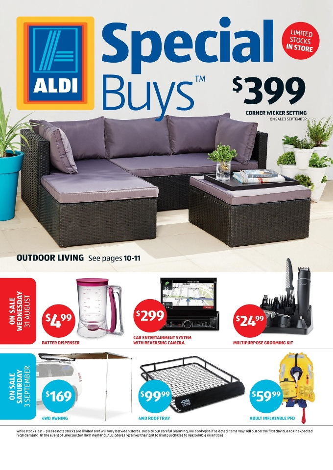 Aldi catalogue special buys week 35 2016 Home furniture packages australia