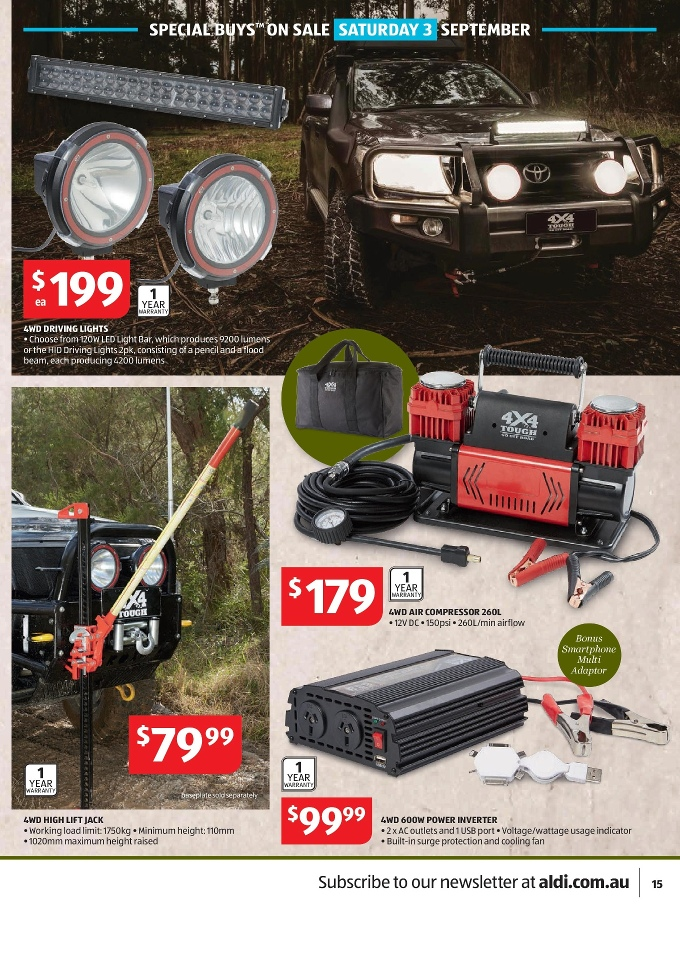 aldi catalogue special buys week 35 2016