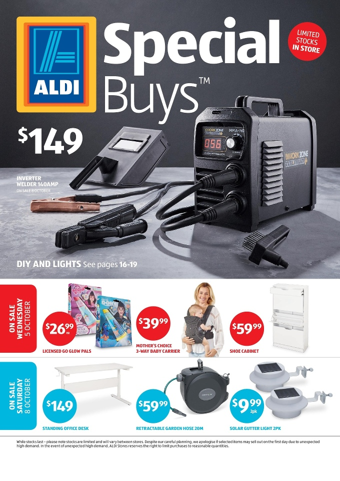 Aldi catalogue special buys week 40 2016 for Aldi gardening tools 2016