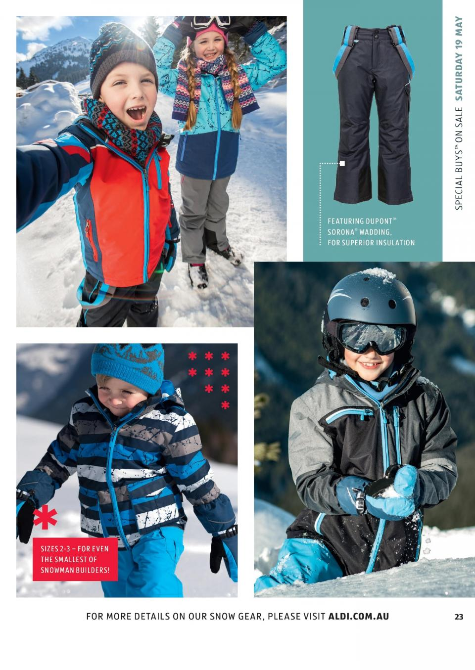 aldi snow gear special buys week 20 2018