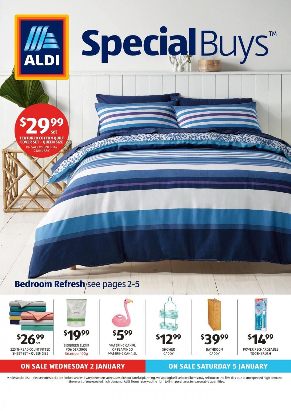 aldi special buys week 1 2019. Black Bedroom Furniture Sets. Home Design Ideas